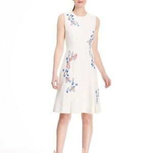 Drapper James Tulip Floral White Willow Dress
